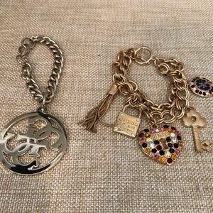 GUESS Lot of 2 fashion bracelets.